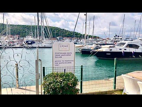 Çeşme Marina в Измире прогулка часть 1, Турция Чешме