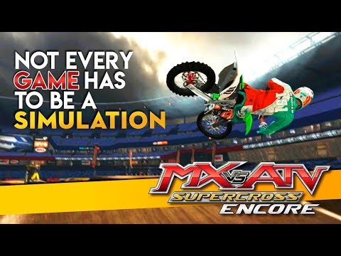 Arcade Motocross Games Are Fun Too! - MX vs ATV Supercross Encore!