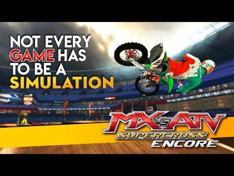 Arcade Motocross Games Are Fun Too! - MX vs ATV Supercross Encore!