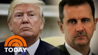 President Donald Trump's Syria Statement, Assad Shows Defiance | TODAY
