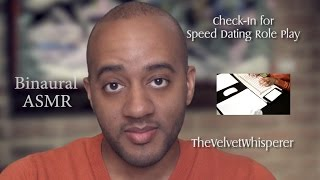ASMR | Check-In for Speed Dating Role Play | Binaural