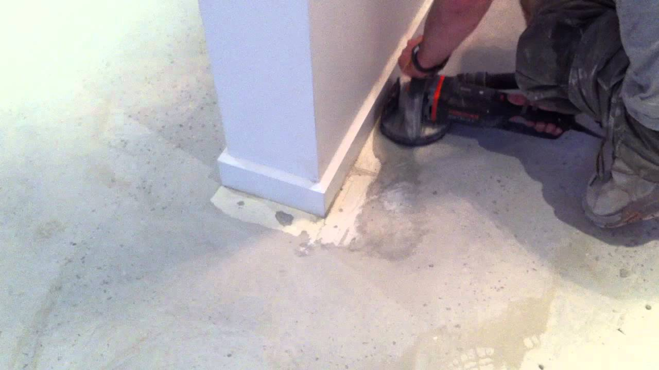 removing paint from concrete youtube