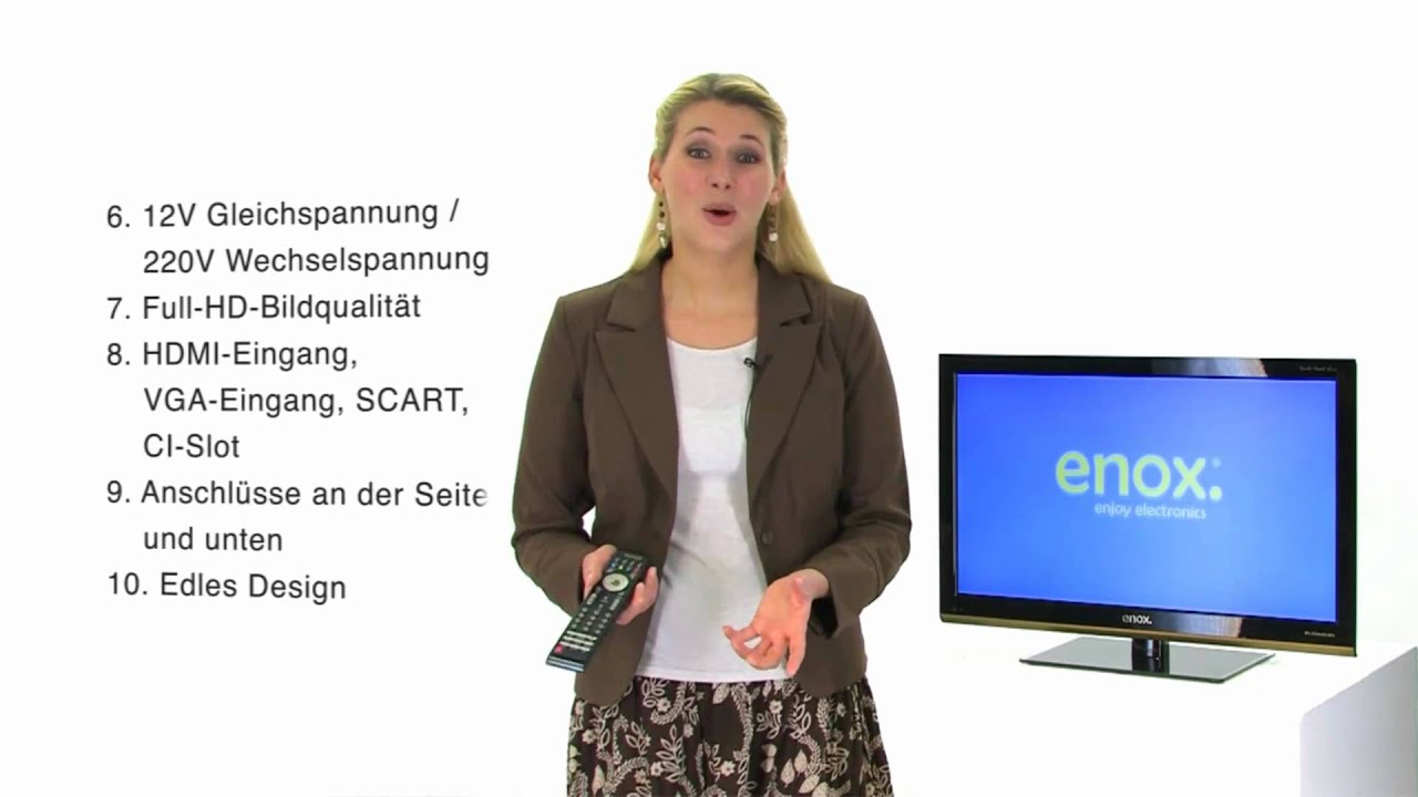 enox 12 volt lcd led fernseher 60cm 24 zoll mit dvb t. Black Bedroom Furniture Sets. Home Design Ideas