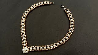 How To Make//Simple & Easy Pearl Necklace At Home// Useful & Easy