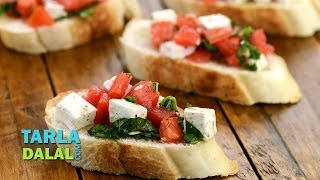 Tomato And Paneer Open Toast By Tarla Dalal