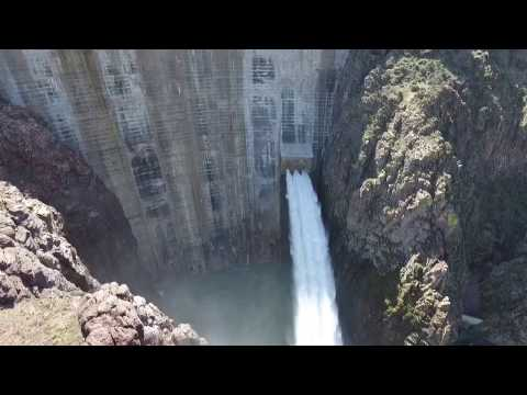 Thumbnail: Owyhee Dam Glory Hole Spillway #1 April 1st, 2017