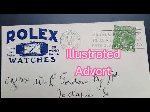 Australia Rolex Watches Illustrated Envelope #โฆษณาบนซองจดหมาย