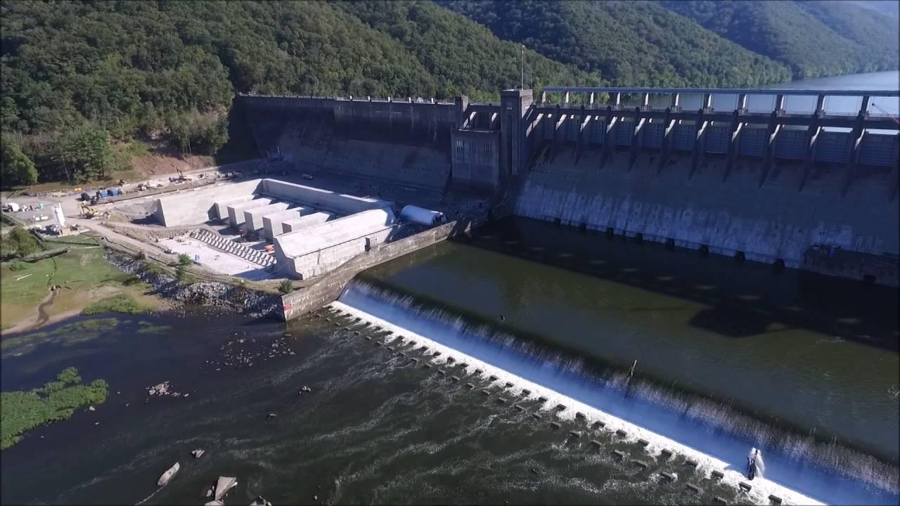 Bluestone Dam on the New River Hinton West Virginia DJI Phantom 3 Pro