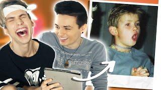 Mein Boyfriend und ich reagieren auf cringy alte Fotos! ft. darkviktory | KostasKind