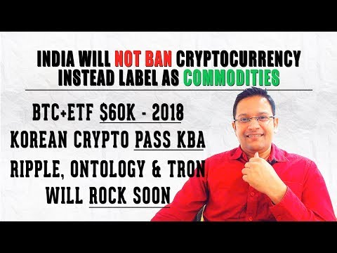 India may NOT BAN Cryptocurrencies, Instead Labelling as COMMODITIES. HOT Cryptocurrency Market News