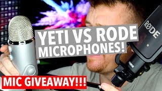 Video RODE NT-USB VS BLUE YETI MICROPHONE! GIVEAWAY! download MP3, 3GP, MP4, WEBM, AVI, FLV Juli 2018