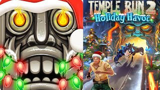 Temple Run 2 New Update! New Christmas Holiday Havoc Volcano Maps Run Gameplay 2019