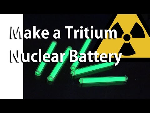 Make a Tritium Nuclear Battery or Radioisotope Photovoltaic