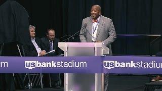 U.S. Bank Stadium Ribbon Cutting Ceremony: Louis King