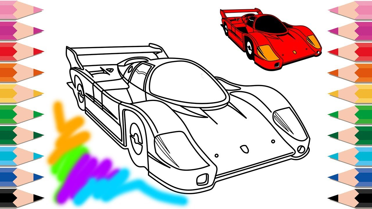 - How To Draw Super Cars Racing Cars Coloring Pages Learn Colors For
