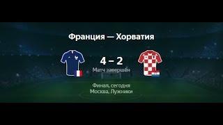 🔥 Франция - Хорватия 4-2 ⚽ Закрытие футбол Чемпионат мира 2018 Россия сегодня.