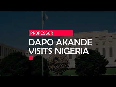 Download Professor Dapo Akande, UK & Nigeria's candidate for the International Law Commission visits Nigeria