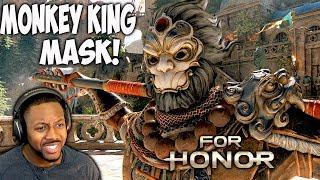For Honor Shaolin Monk Gameplay - Monkey King Mask Unlocked - Jiang Jun Duels [Marching Fire]