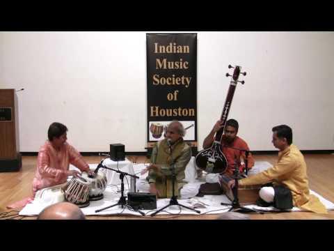 Pandit Ulhas Kashalkar with Shantilal Shah and Kedar Naphade