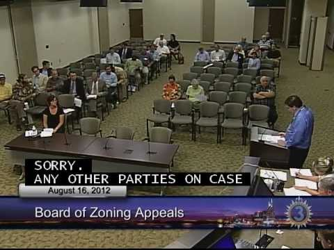 08/16/12 Board of Zoning Appeals Meeting