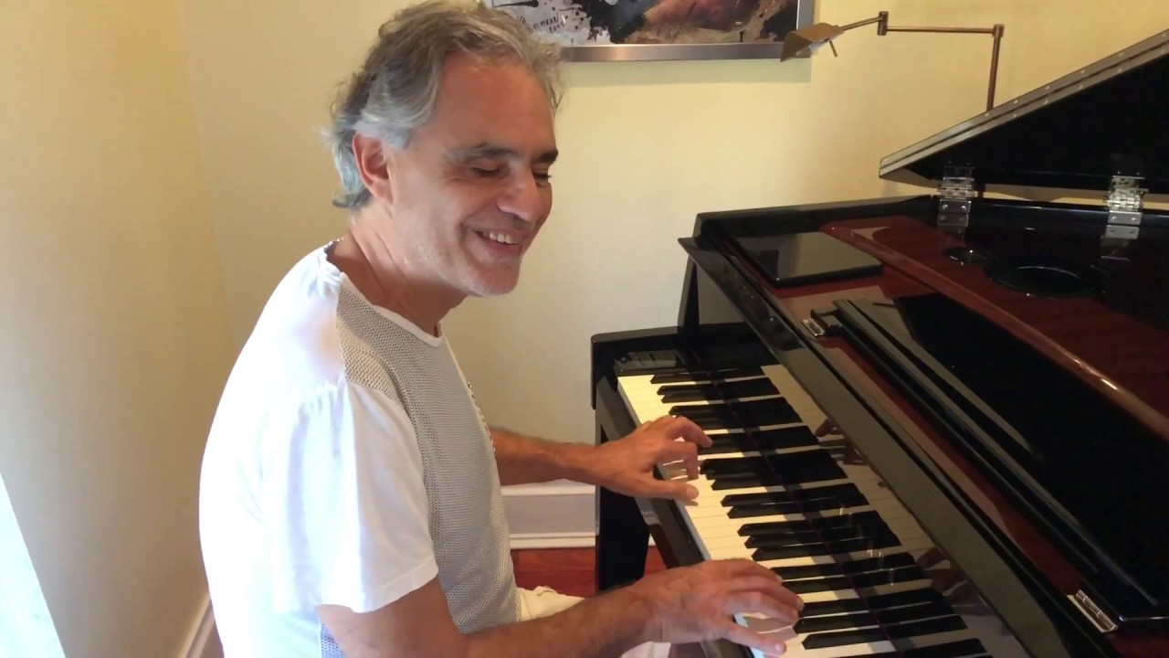 Andrea Bocelli Singing A Valentine Song Amp Playing His New