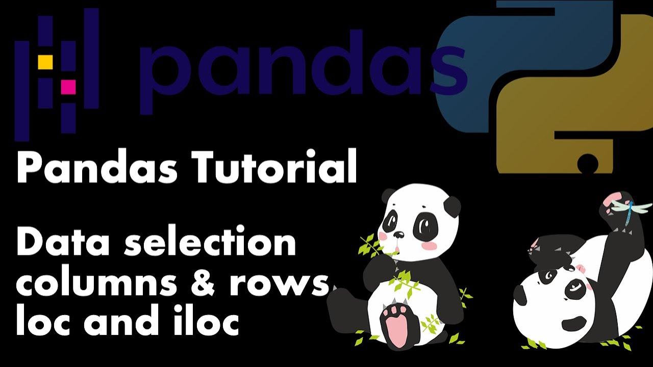 Data SELECTION in Pandas Via Loc and Iloc - Tutorial #2