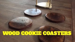 Wood cookie coasters