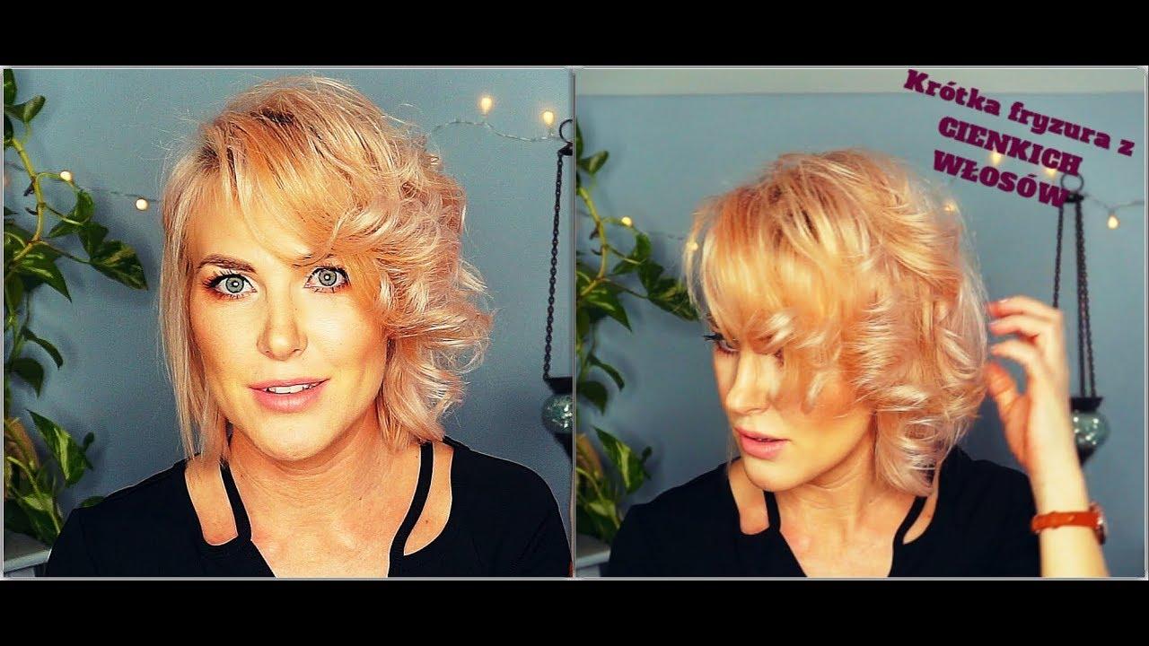 Fryzura Dla Cienkich Włosówshort Hairprosta Fryzura2