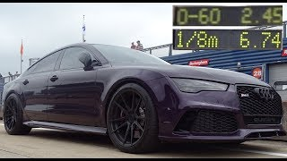 773bhp Audi RS7 - 0 to 60mph 2.45 Seconds