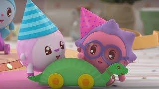 Малышарики -  Поздравляю - серия 145 - Обучающие мультфильмы для малышей - день рождения