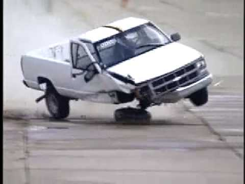 Chevy Truck Crash Test Into Barrier