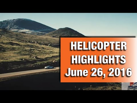 2016 Pikes Peak International Hill Climb Helicopter Highlights