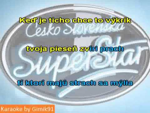 Superstar - Príbeh nekončí karaoke cz sk