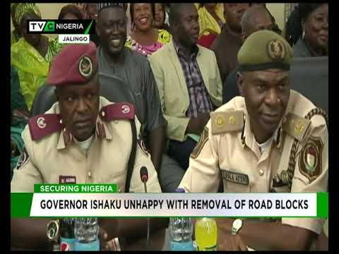 Governor Ishaku unhappy with removal or roadblocks