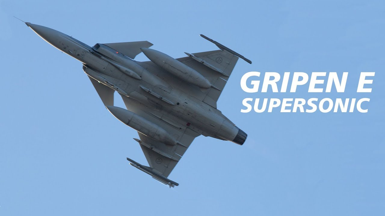 SAAB JAS 39 GRIPEN E GOES SUPERSONIC. UPDATE !