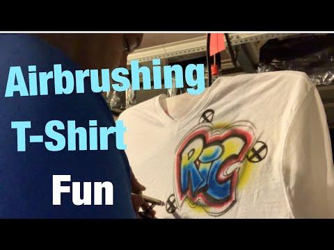 Airbrushing T-Shirt