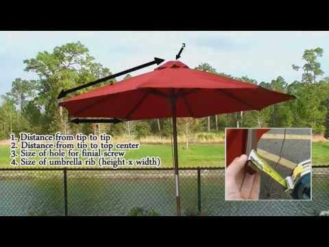 How To Measure - Umbrella Replacement Measurement Tips Video Instructions