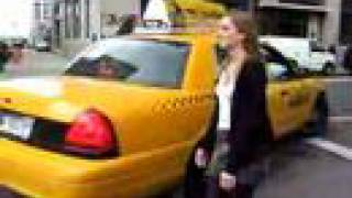 Michelle Nash, hailing a taxi cab in New York thumbnail
