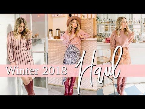 Huge Winter 2018 HAUL + TRY ON | H&M, Dynamite, Scotch & Soda