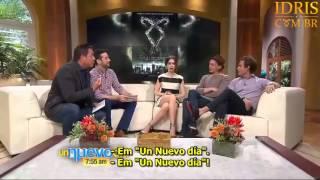 Jamie Campbell Bower, Lily Collins e Kevin Zegers no programa Un Nuevo Dia (Legendado)