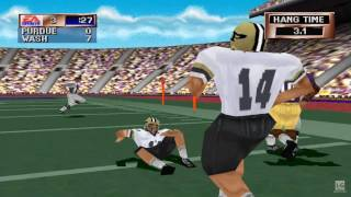 NCAA Football 2001 PS1 Gameplay HD