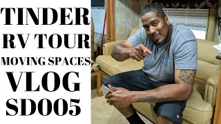 TINDER, TOUR OF MY TIFFIN PHAETON, CHANGING SITES/DAILY VLOG SD005