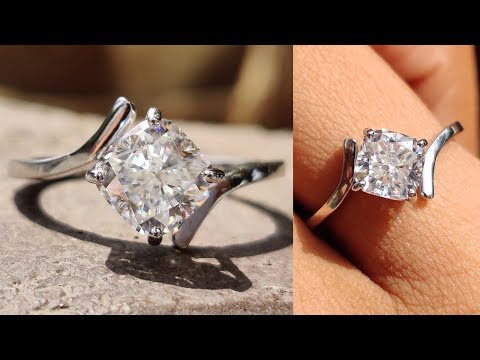 1.54ct-cushion-colorless-moissanite-contemporary-tension-set-solitaire-engagement-ring-|-bypass-ring