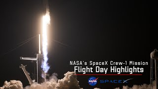 NASA's SpaceX Crew 1 Flight Day 1 Highlights