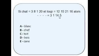 tests de QI alphanumérique - réponse 2