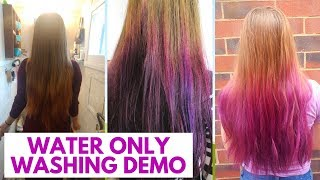 Video WATER ONLY HAIR WASHING DEMO + PURPLE HAIR download MP3, 3GP, MP4, WEBM, AVI, FLV Agustus 2018
