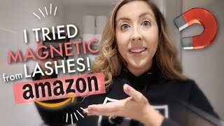 I Tried Magnetic Lashes From Amazon! | Laura Hoyda Vlogs