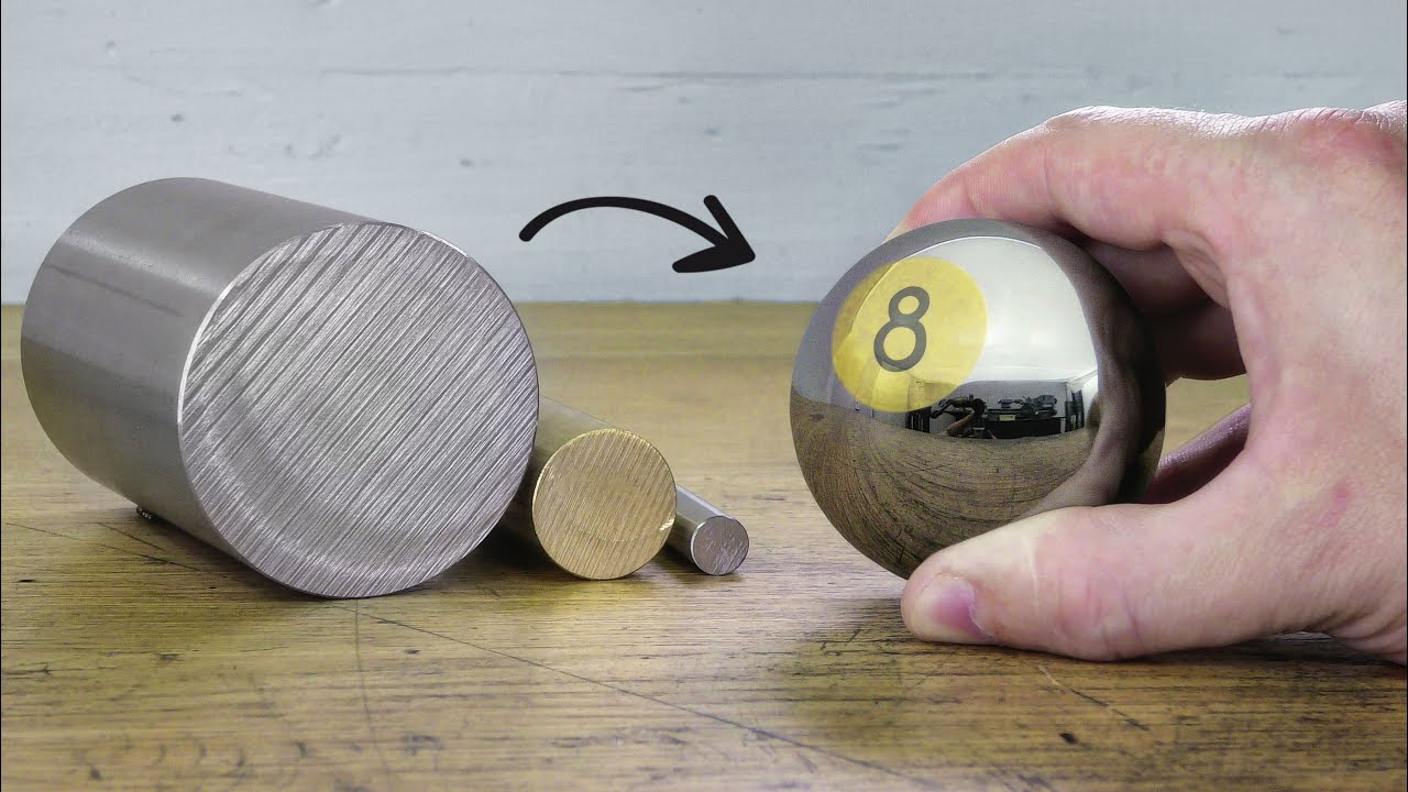 I make an ''8 Ball'' out of solid Stainless Steel and Brass