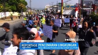 Limbah Pabrik Cemari Permukiman, Ratusan Warga Demo PT Ultra Jaya