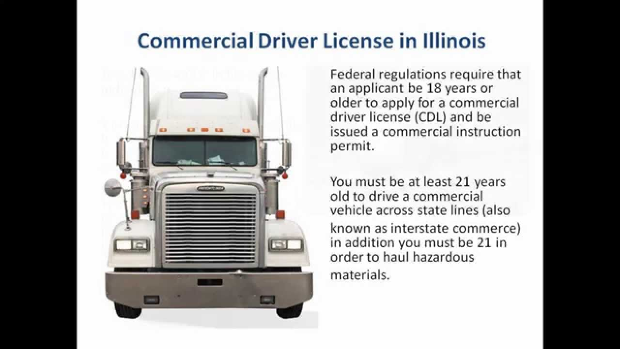 Cdl a license illinois